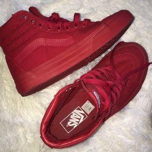 High top red vans